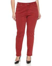 Nydj Sheri Shattered Skinny-Leg Jeans, Shattered Red - Lyst