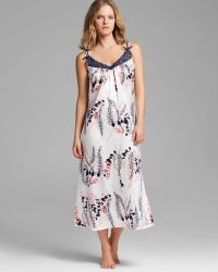 Oscar de la Renta First Bloom Printed Charmeuse Long Gown - Lyst