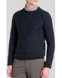 Ted Baker Crewe Basket Stitch Sweater - Lyst