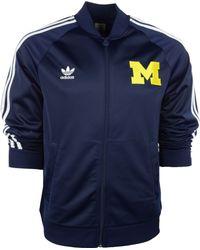 Adidas Michigan Wolverines Legacy Track Jacket - Lyst