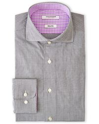 Isaac Mizrahi Silver Slim Fit Dress Shirt - Lyst