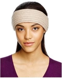 C By Bloomingdale's | Cashmere Ribbed Headband | Lyst