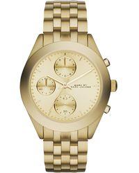 Marc By Marc Jacobs Women'S Chronograph Peeker Gold-Tone Stainless Steel Bracelet Watch 36Mm Mbm3393 - Lyst