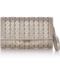 Karen Millen Cutwork Metallic Clutch - Lyst