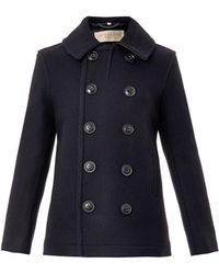 Burberry Brit Woolson Wool-Blend Pea Coat - Lyst