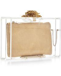 Charlotte Olympia Transparent Decorative Pandora Clutch - Lyst