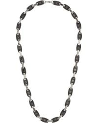 Topman Silver Engraved Necklace - Lyst