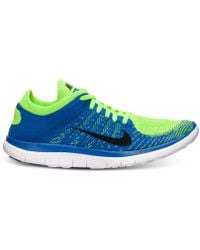 Nike Mens Free Flyknit 40 Running Sneakers From Finish Line - Lyst