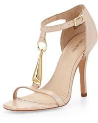 Pour La Victoire Yolanda Vachetta Leather Sandal - Lyst