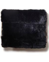 3.1 Phillip Lim - Lynus Fur Ipad Case Black - Lyst