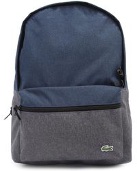 Lacoste Dual-tone Blue Backpack - Lyst