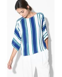 Mango Striped Blouse - Lyst