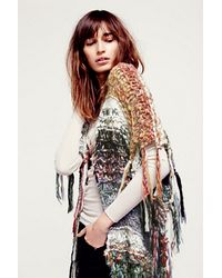 Free People Multi Color Maxi Poncho - Lyst