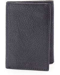 Kenneth Cole Reaction Black Pebbled Tri-fold Wallet - Lyst