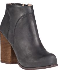 Jeffrey Campbell Hanger Ankle Boot Black Leather - Lyst