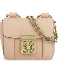 Chloé Elsie Mini Chain Bag Beige - Lyst