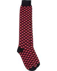 Fefe - Mouth Patterned Socks - Lyst