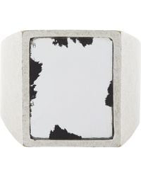 Maison Martin Margiela Antique Mirror Ring - Lyst