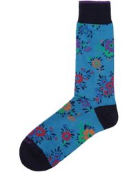 Duchamp Floral Socks - Lyst