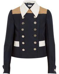 Miu Miu Color-Block Twill Jacket - Lyst