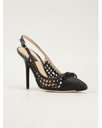 Dolce & Gabbana Woven Sling Back Pumps - Lyst