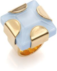 Marc By Marc Jacobs Kandi Gem Square Ring blue - Lyst