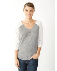Alternative Apparel Ecojersey Raglan Henley Shirt - Lyst