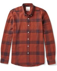 Saturdays Surf Nyc Crosby Windowpane-check Cotton-flannel Shirt - Lyst