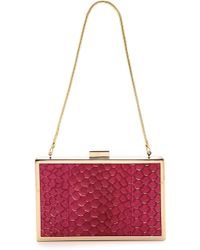 Inge Christopher Corsica Box Clutch - Sangria - Lyst