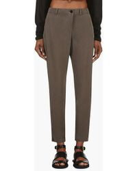 Silent - Damir Doma - Olive Drab Silk Pitis Trousers - Lyst