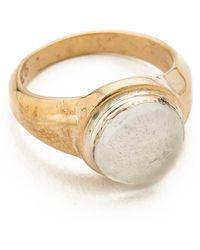 Pamela Love Oracle Ring Brassquartz - Lyst
