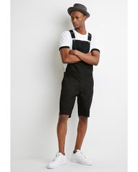 Forever 21 - Clean Wash Overall Shorts - Lyst