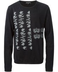 Ann Demeulemeester Floral Print Long Sleeve T-Shirt - Lyst