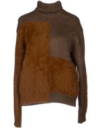 Celine Brown Turtleneck - Lyst