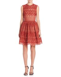 Elie Saab | Sleeveless Guipure Lace Dress | Lyst