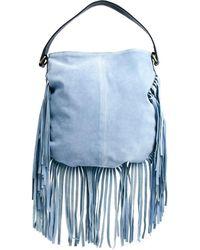 Asos Suede Fringe Shoulder Bag - Lyst
