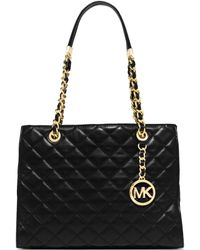 Michael Kors Susannah Medium Quilted-Leather Tote - Lyst