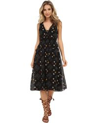 Free People Cotton Batiste Pocketful Of Wildflowers Dress black - Lyst