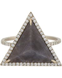 Monique Pean Atelier - Diamond & Sapphire Ring - Lyst