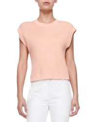 3.1 Phillip Lim Sleeveless Rib-Stitched Pullover pink - Lyst