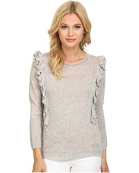 Rebecca Taylor Double Ruffle Pullover - Lyst