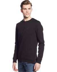 Guess Roy Mesh-Shoulder Pullover - Lyst
