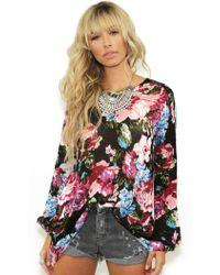 Show Me Your Mumu Festibell Sweater In Dark Garden floral - Lyst