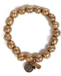 Lucky Brand - Goldtone Beaded Stretch Bracelet - Lyst