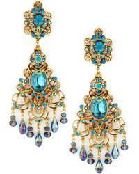 Jose & Maria Barrera Filigree Chandelier Clip Earrings gold - Lyst