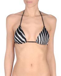 Just Cavalli Bikini Top black - Lyst