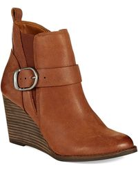 Lucky Brand Yiski Wedge Boots - Lyst