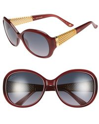 Gucci Women'S 56Mm 18K Gold Plate Gradient Sunglasses - Red/ Gold - Lyst
