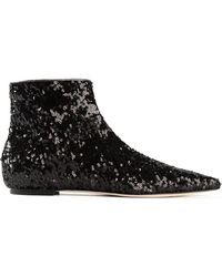 Dolce & Gabbana 'Bellucci' Sequinned Ankle Boots - Lyst