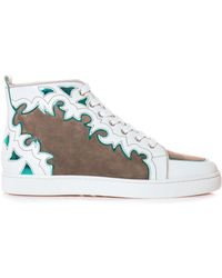 Christian Louboutin Arizona Leather and Suede Trainers - Lyst